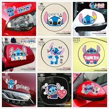 Cartoon Stitch Car Stickers Rearview Sticker Eyebrow Fuel Cap Sticker Waterproof Car Window Door Decals Shopee Philippines