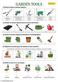 gardening tools interactive worksheet