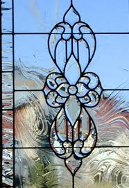 leaded beveled glass windows stained