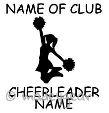 Car Window Vinyl Decal Sticker Sports Cheerleading Personalized Cheerleading Vinyl Decal Stickers Car Decals Vinyl