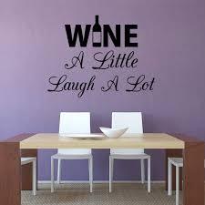 Vwaq Wine A Little Laugh A Lot Wall Decal Sticker Kitchen Quotes Dec