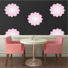 Floral Wall Decal Stickers Wallpaper Fancy Flower Wallpaper Wall Decor American Wall Designs