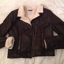 pacsun jackets coats brown leather