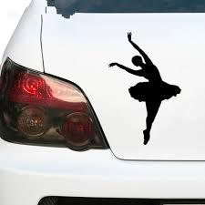 2pcs 16x13cm Ballerina Dancer Swan Dance Beautiful Girl Vinyl Car Sticker Decal Car Trunk Lip Logo Modern Unique Stickers Black Silver Red White 6 6 Wish