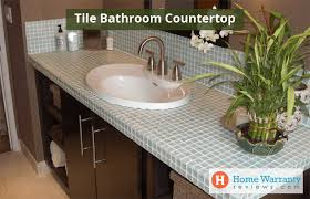 bathroom countertop material with pros