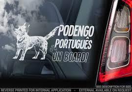 Podengo Portugues On Board Car Window Sticker Portuguese Etsy