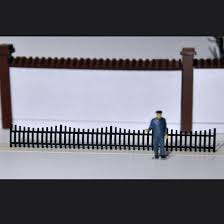 1 87 Ho Scale Train Model Construction Scene Sand Table Garden Fence No Figures Model Building Kits Aliexpress