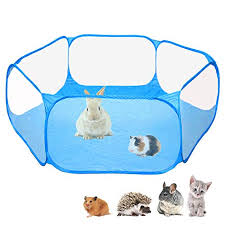 Amakunft Small Animals C C Cage Tent Breathable Transparent Pet Playpen Pop Open Outdoor Indoor Exercise Fence Portable Yard Fence For Guinea Pig Rabbits Hamster Chinchillas And Hedgehogs On Galleon Philippines