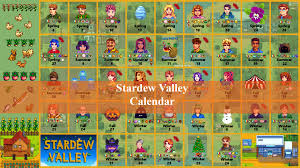 stardew valley calendar all seasons