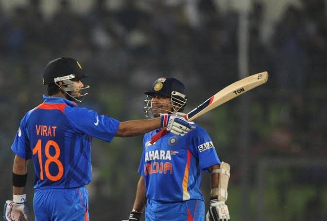 Image result for India vs Australia: Virat Kohli one ton away from matching massive Sachin Tendulkar milestone""