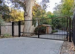 Driveway Gate Kit Wrought Iron Single Pickets Etsy
