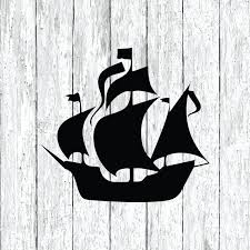 Pirate Ship Decal Laptop Stickers Macbook Decal Car Etsy