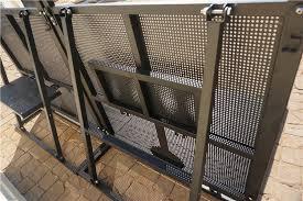 Foldable Event Barricade Rental Steel Barricades Crowd Control Electrostatic Coating