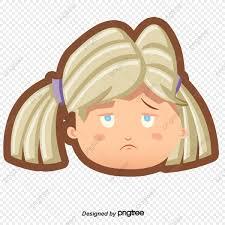 الكرتون فتاة حزينة بس من ناحية رسم كرتون حزين التعبير Png صورة