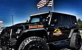 Jurassic Park Ingen Corporation Vinyl Sticker Dinosaur Jeep Wrangler Car Decals
