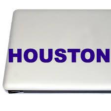 Houston City Vinyl Decal