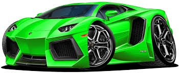 Amazon Com 12 Lamborghini Aventador Green Wall Decal Cartoon Car 3d Sticker Mural Kids Room Sports Den Man Cave Boys Home Kitchen