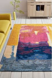 bright abstract rug from next ireland