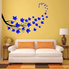 Vwaq Tree Branch Leaves Wall Sticker Living Room Decal Decor 37 Pc