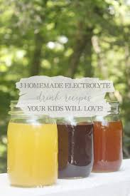3 homemade electrolyte drink recipes