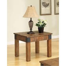 rustic country style end table
