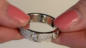 a cartier diamond love ring you