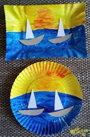 Zachód słońca nad morzem (With images)   Prace plastyczne na ...