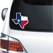 Texas State Map Flag Truck Decal Sticker Custom Sticker Shop