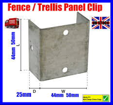 Fence Panel Clips 45mm 50mm 55mm Galvanised Brackets Fencing Post Panel Clips 1 89 Picclick Uk