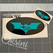 Batman Emblem Overlay Decal Set Orsini Vinyl Designs