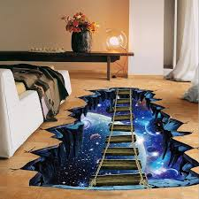 New Large 3d Space Wall Sticker Galaxy Star Bridge Home Decoration For Kids Room Floor Living Room Wall Decals Home Decor Big Wall Decals Big Wall Stickers From Sophine11 12 08 Dhgate Com