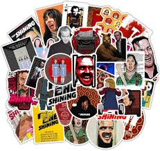 Amazon Com 50pcs Pack Terror Movie Laptop Stickers Cool Vinyl Computer Waterproof Water Bottles Skateboard Luggage Decal Graffiti Patches Decal The Shining Arts Crafts Sewing