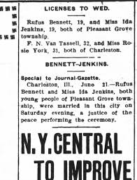 Bennett/Jenkins marriage 1910 - Newspapers.com
