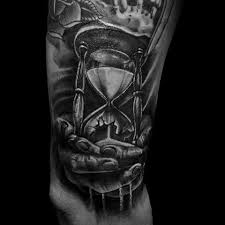broken hourglass tattoo designs for men