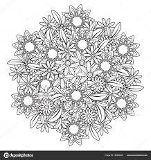 Floral Mandala Pattern Stock Vector C Elinorka 195933298