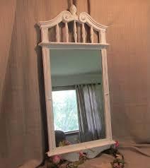 ornate wall mirror large white mirror