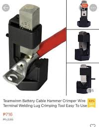 Teamwinm Battery Cable Hammer Crimper Wire Terminal Welding Lug Crimping Tool Easy To Use Shopee Philippines