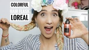 colorful hair flash maquillaje para