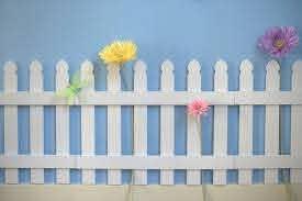 White Wooden Picket Fences For Kids Room Wall Border Garden Room Decor Hearttoheart Wall Decor Bedroom Girls Kids Room Wall Art Wall Kids