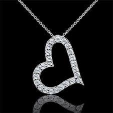 designer diamond heart pendant necklace