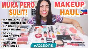 local affordable makeup haul 2019
