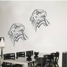 Hot Hot Hot Sale Animal Eagles Head Wall Decal Sticker Living Room Stickers Gray Color High 85cm Wide 50cm Discount Usd Salefans603