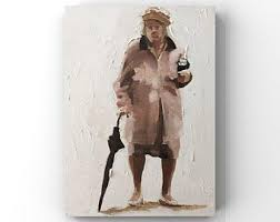 Old Lady Wall Decals Etsy
