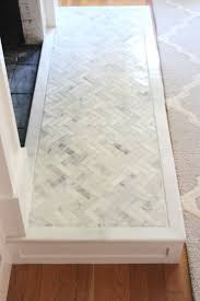 how to tile over a brick hearth brick