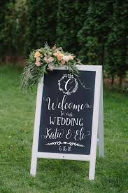 Welcome To Our Wedding Sign Chalkboard Decal Welcome Sign Etsy