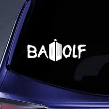 Amazon Com Bargain Max Decals Whovian Bad Wolf Dw Sticker Decal Notebook Car Laptop 4 White Automotive