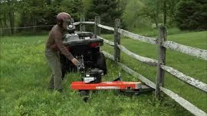 7 25 Tow Behind Trimmer Mower For Atvs Youtube