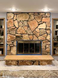 limewash stone fireplace makeover bye