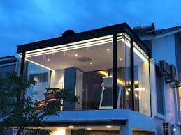 glass room extension in malaysia the