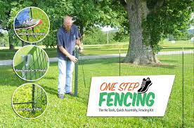 Temporary Fencing With One Step Fencing S No Tools Quick Assembly Temporary Fencing Kit